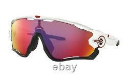Oakley JAWBREAKER Sunglasses OO9290-05 Polished White With PRIZM ROAD