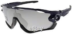 Oakley Jawbreaker Sunglasses OO9290-12 Navy Chrome Iridium Polarized Lens NIB