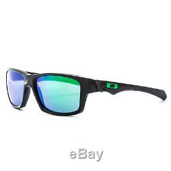 Oakley Jupiter Squared Sunglasses OO9135-05 Polished Black / Jade Iridium Lens