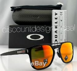 Oakley LATCH ALPHA Sunglasses OO4128-05 Matte Black Ruby Iridium Polarized Prizm
