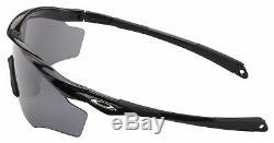 Oakley M2 Frame XL Sunglasses OO9343-09 Black Black Iridium Polarized Lens NIB