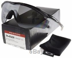 Oakley M2 Frame XL Sunglasses OO9343-09 Polished Black Black Iridium Polarized