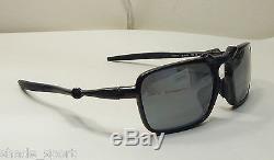 Oakley Men Sunglasses Badman Asia Fit Dark Carbon Black Iridium Polarized