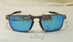 Oakley Men Sunglasses Badman Asia Fit Plasma Sapphire Iridium Polarized
