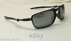 Oakley Men Sunglasses Badman Dark Carbon Black Iridium Polarized