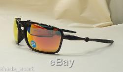 d78987e924 Oakley Men Sunglasses Badman Dark Carbon Ruby Iridium Polarized