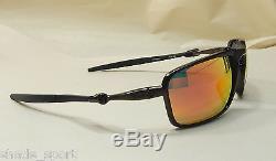 Oakley Men Sunglasses Badman Dark Carbon Ruby Iridium Polarized