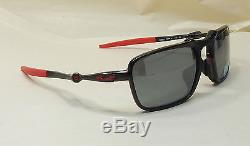 Oakley Men Sunglasses Badman Scuderia Ferrari Asia Fit Black Irid Polarized