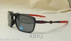 Oakley Men Sunglasses Badman Scuderia Ferrari Asian Fit Black Irid Pol