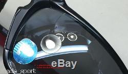 Oakley Men Sunglasses Badman Scuderia Ferrari -Dark Carbon- Blk Irid Polarized