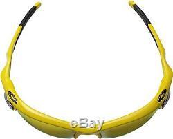 Oakley Men's Fast Jacket XL Yellow with Fire Iridium Sunglasses