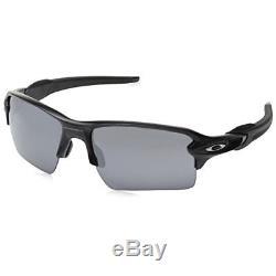 Oakley Men's Flak 2.0 XL Rectangular Sunglasses Matte Black / Black Iridium Lens