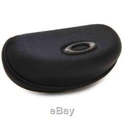 Oakley Men's Flak Jacket Iridium Sunglasses, Jet Black Frame/Black Lens, One Size