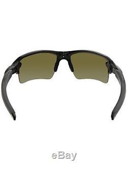 Oakley Men's Gradient Flak 2.0 OO9188-22 Black Semi-Rimless Sunglasses