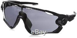 Oakley Men's Jawbreaker OO9290-01 Shield Sunglasses, Polished Black, 131 mm