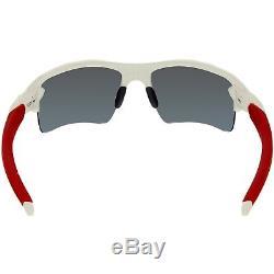 Oakley Men's Mirrored Flak OO9188-21 Red Semi-Rimless Sunglasses