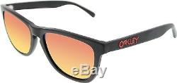 Oakley Men's Mirrored Frogskins OO2043-02 Black Square Sunglasses