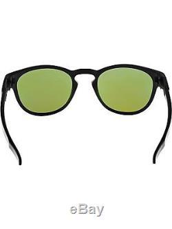 Oakley Men's Mirrored Latch OO9265-06 Matte Black Oval Sunglasses