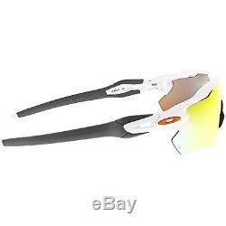 Oakley Men's Mirrored Radar Ev Path OO9208-16 White Semi-Rimless Sunglasses