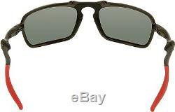 Oakley Men's Polarized Ferrari OO6020-07 Black Rectangle Sunglasses