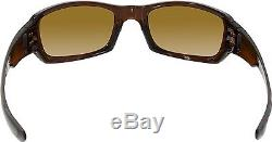 Oakley Men's Polarized Fives Squared OO9238-08 Brown Rectangle Sunglasses