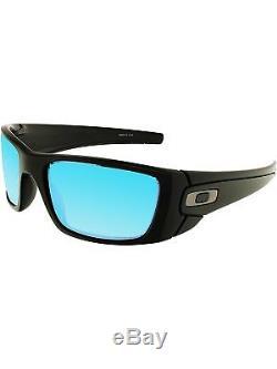 Oakley Men's Polarized Fuel Cell Prizm OO9096-D8 Black Rectangle Sunglasses