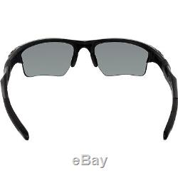Oakley Men's Polarized Half Jacket OO9154-46 Black Semi-Rimless Sunglasses