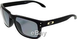 Oakley Men's Polarized Holbrook OO9102-17 Black Square Sunglasses
