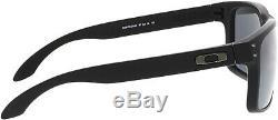 Oakley Men's Polarized Holbrook OO9102-D6 Black Rectangle Sunglasses