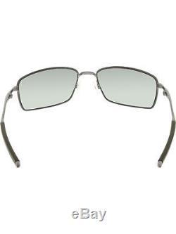 Oakley Men's Polarized Square Wire OO4075-04 Grey Rectangle Sunglasses