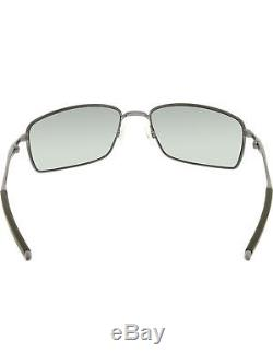 Oakley Men's Polarized Square Wire OO4075-04 Gunmetal Rectangle Sunglasses