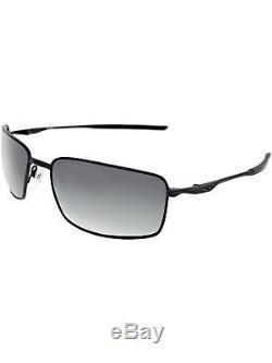 Oakley Men's Polarized Square Wire OO4075-05 Black Sunglasses