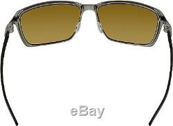 Oakley Men's Polarized Tincan OO6017-05 Grey Rectangle Sunglasses