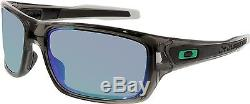 Oakley Men's Polarized Turbine OO9263-09 Grey Wrap Sunglasses