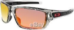 Oakley Men's Polarized Turbine OO9263-10 Grey Wrap Sunglasses
