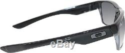 Oakley Men's Polarized Twoface OO9189-01 Black Rectangle Sunglasses