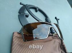 Oakley Men's Probation Brushed Chrome Dark Bronze Lens Sunglasses Rare 4041-04