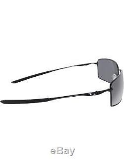 Oakley Men's Square Wire OO4075-01 Black Rectangle Sunglasses