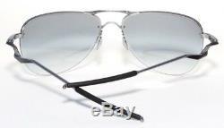 Oakley Men's Tailpin OO4086-01 Aviator Sunglasses, Lead/Black Iridium Lens, 61 m