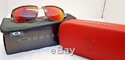 Oakley Men's Tincan Carbon Ferrari Sunglasses Carbon Frame Ruby Iridium Lens OO6