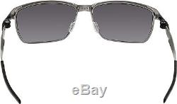 Oakley Men's Tinfoil OO4083-01 Black Rectangle Sunglasses