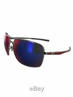 Oakley Mens 4063 Plaintiff Squared Polarized Sunglasses, Chrome/Red Irridium