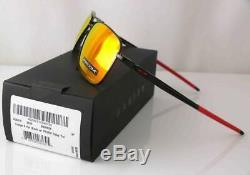 Oakley Mens Sunglasses Gauge 6 Gloss Black Titanium Fr Polarized Prizm Ruby Lens