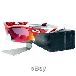 Oakley OCP RADARLOCK PATH Red White Positive Red Iridium Custom Mens Sunglasses