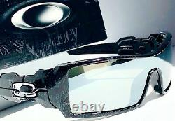 Oakley OIL RIG Black Ghost Text POLARIZED Galaxy CHROME Mirror Sunglass 9081