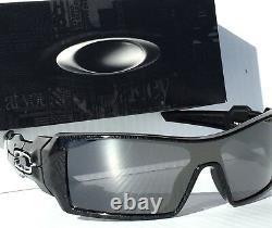 Oakley OIL RIG Black Ghost Text w Black iridium Lens Sunglass 9081 24-058