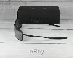 Oakley OO4075 05 SQUARE WIRE Mt Black iridium polarized 60 mm Men's Sunglasses