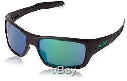 Oakley OO9263 Turbine Men's Sunglasses Verde (Matte Black/Jade Iridium)