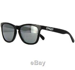 14cf4df9db Oakley Oo 2043-01 Frogskin Lx Polished Black Grey Mens Sunglasses