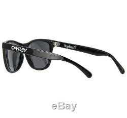 Oakley OO 2043-01 FROGSKIN LX Polished Black Grey Mens Sunglasses